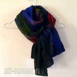 Wełniany szal w kolorach o zachodzie szaliki anna damzyn szal