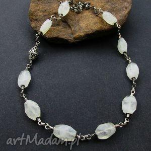 naszyjniki naszyjnik z kamienia księżycowego, kamień, księżycowy, srebro