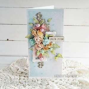 serdeczne życzenia - kartka w pudełku 632 - okolicznościowa