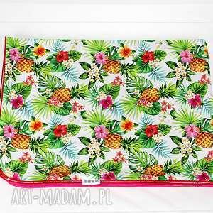 kocyk minky 100x75 tropical - kocyk, minky, dziecko, niemowle, ananas, tropical