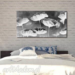 obraz XXL - KWIATY 2 120x70cm na płótnie czarno białe, obraz, czarno, biały, kwiaty