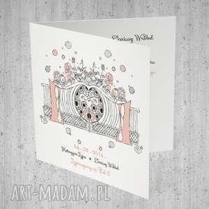 zaproszenia ślubne z bramą ogodową - 10 szt, ślubne, zaproszenia, drzwi, kartki