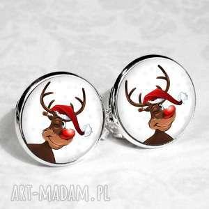 świąteczne klipsy - doskonały prezent handmade, klipsy, renifer, święta, świąteczny