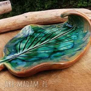 ceramika ceramiczny talerzyk liść c298, liść, ceramika, kadzidła