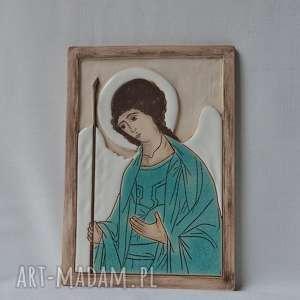 Ikona ceramiczna - Archanioł Michał, ikona, michał, archanioł, obraz, komunię,