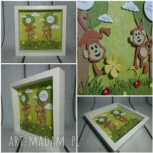 pokoik dziecka metryczka - tytusy dwa, metryczka, małpka, las, urodziny
