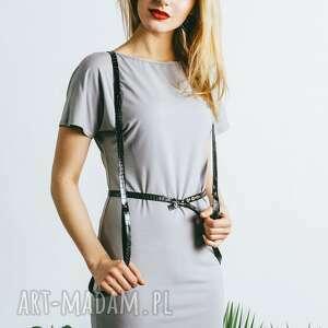prezent na święta, sukienka szara y, sukienka, minimalistyczna, dzianinowa