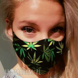 maseczki maseczka na ból głowy. Liście marihuana cbd maska dopasowana czterowarstwowa