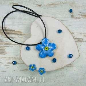 Prezent Komplet biżuterii niezapominajki, komplet-biżuterii, biżuteria-kwiaty
