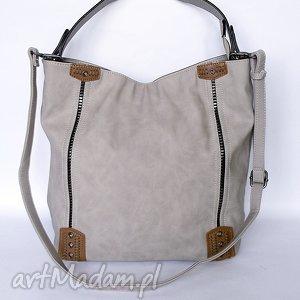 Beżowa torba na ramię, torba, torebka