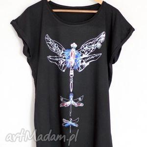 WAŻKI koszulka oversize czarna, koszulka, tshirt, nadruk, ważka, ważki