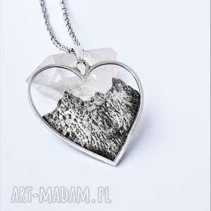 Naszyjnik z miłości do gór naszyjniki dziki krolik góry, srebro,