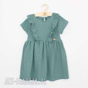 hand-made muślinowa sukienka z falbankami