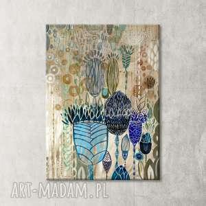 Obraz ręcznie malowany na płótnie - łąka creo obraz, kwiaty