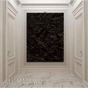 black ocean - dystyngowany obraz z czarnymi eleganckimi rzeźbieniami bardzo