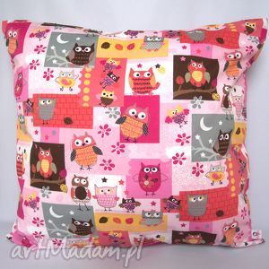 poduszka w sowy piękna ozdoba prezent, poduszka, jasiek, sowa, sowy