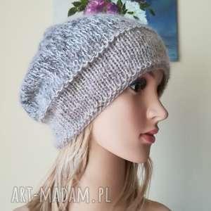 beże z jedwabiem, rękodzieło, zima, styl, czapka, ombre, prezent, świąteczny