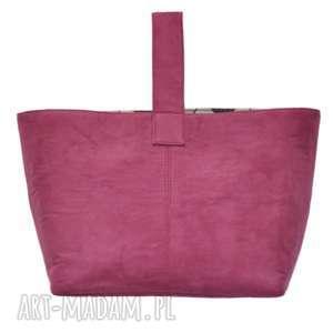 ręcznie zrobione do ręki 13 -0011 różowa torebka damska do ręki shopper bag / na zakupy toucan