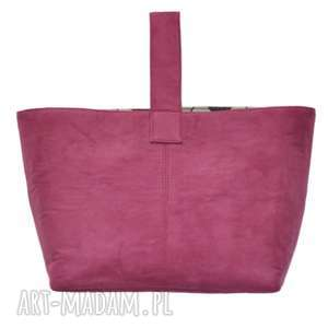 hand-made do ręki 13-0011 różowa torebka damska do ręki shopper bag / na zakupy toucan