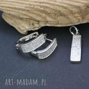 srebrny komplet kolczyki i zawieszka, komplet, srebrny, kolczyki, zawieszka