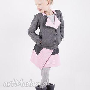 ubranka spódniczka ds02 nena rm gr, asymetryczna, pikowana, bawełniana dla dziecka