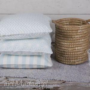 Poszewka na poduszkę lodowa mięta - 3 wzory, poduszki, poduszka, poszewka,