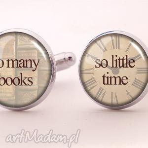 ręcznie robione spinki do mankietów so many books, so little time - spinki do mankietów