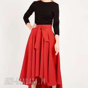 spódnice czerwona spódnica z koła, koło, długa, maksi, prosta, rozkloszowana