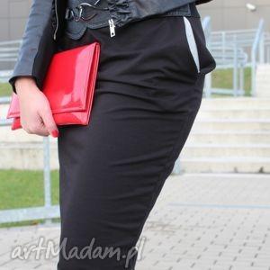 hand-made spódnice ołówkowa spódnica dresowa midi kolory