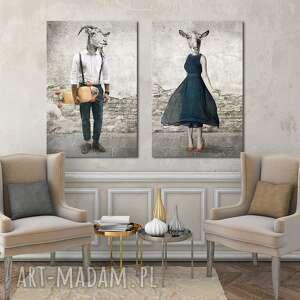 ludesign gallery komplet dwoch dużych obrazów - 2 części każda 70x100cm łącznie