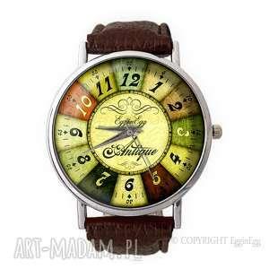 ruletka - skórzany zegarek z dużą tarczą - prezent