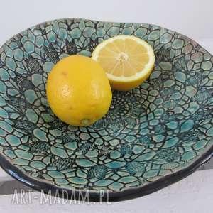 koronkowa miska, ceramiczna, miseczka, z koronką, koronkowa, na owoce