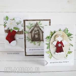 komplet trzech kartek świątecznych