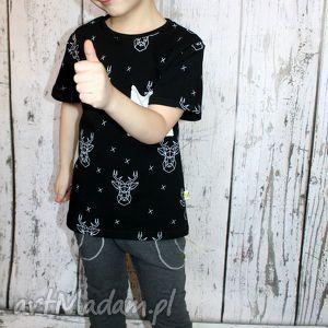handmade bluzka, t-shirt jelenie (98 -134)