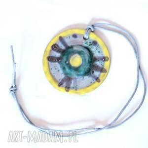 ceramiczny szkliwiony naszyjnik wymarzony, cersmika