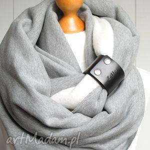 ręcznie wykonane kominy modny gruby komin zimowy z zapinką, tuba, pomysł na prezent dla