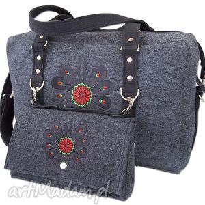 podróżne filcowa torba podróżna 2w1 - parzenica t083007, filcowa, torbka