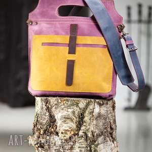 torba skórzana navahoclothing, skórzana, torebka na ramię, do szkoły, przez