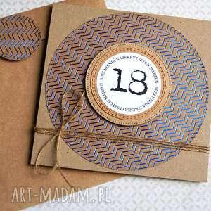 18-te urodziny kartka urodzinowa eco glam, na osiemnastkę, osiemnastka