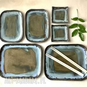 handmade ceramika zestaw sushi dla dwojga