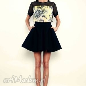 T-shirt - tropical print rozmiar 36, print, bluzka, bawełna