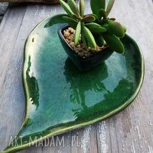 ceramiczna patera/talerzyk c52, ceramika, liść, patera, ceramiczny, talerzyk