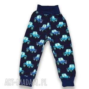 traktory granatowo-niebieski spodnie dla chłopca, całoroczne z dresówki