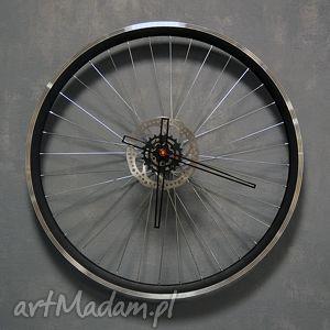 Prezent Zegar z koła Blackout, zegar, industrialny, loft, rower, rowerowy, prezent