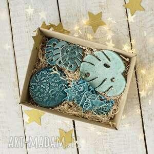 monstera miętowa - box prezentowy z ceramiką, monstera, ceramika, ozdoby