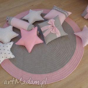 pokoik dziecka dywan pink rainbow, dywan, dywanik, chodnik, bawełna, sznurek