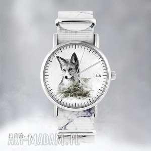 Prezent Zegarek - Lis marmurkowy, nato, zegarek, bransoletka, las, lis