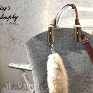 ręcznie wykonane torebki filcowa szara brązowa torebka hobo i znów księżniczka anna
