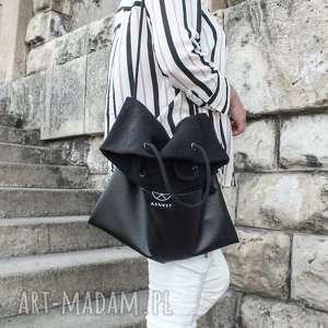 na ramię torba konopna lazy black, listonoszka, worek