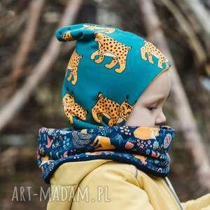 Kominiarka czapka-skrzata rysie mamaiti dla dzieci, czapka